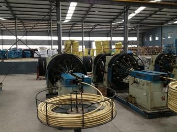 wire braided hose machine